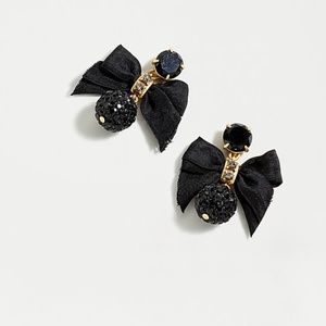 J. CREW Pave Drop Bow Earrings